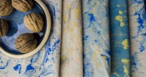 DIY : Stoff marmorieren mit Rasierschaum
