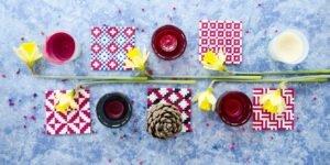 DIY Bügelperlen Untersetzer für den Esstisch mit Kerzen