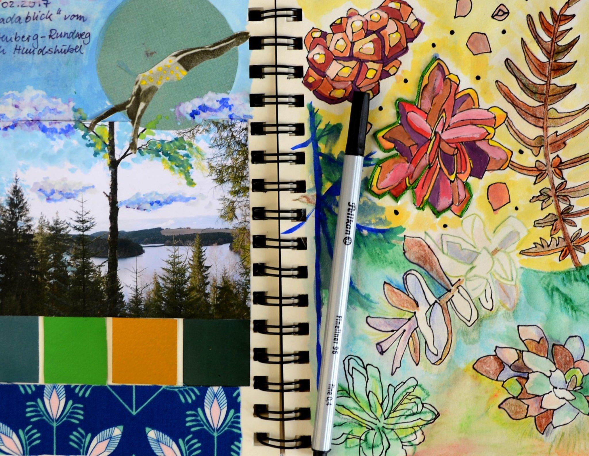 Art Journal Seite Wald von Ms. Hey!