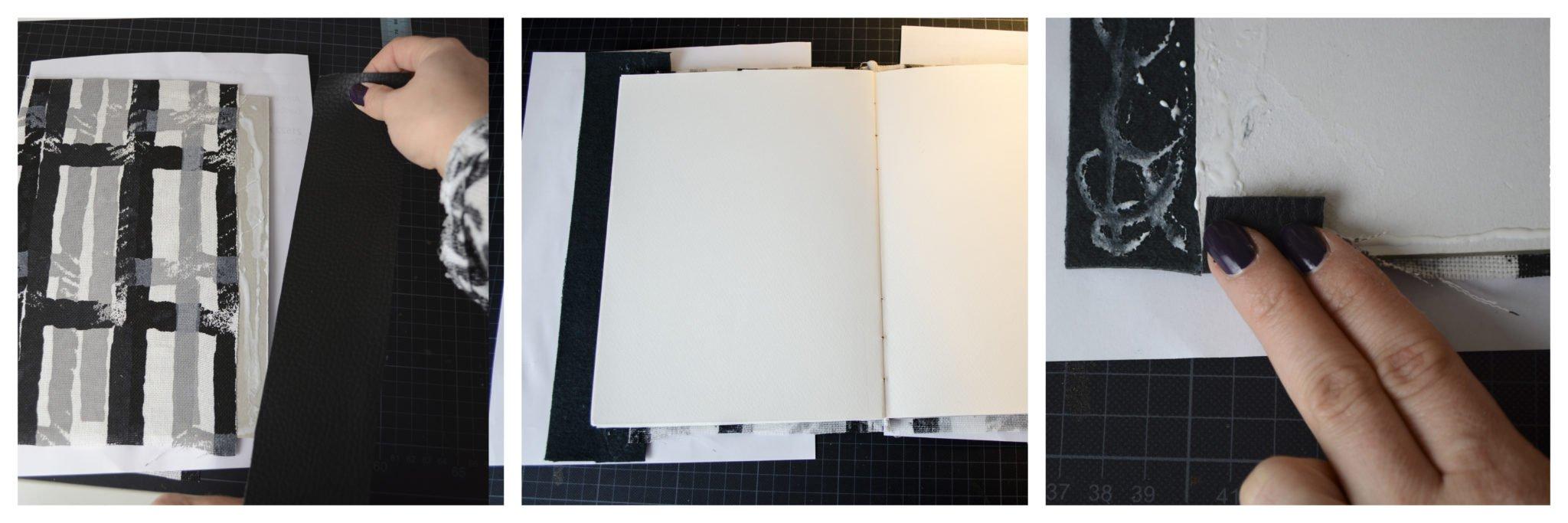Buchbinden - Skizzenbuch Einband verleimen