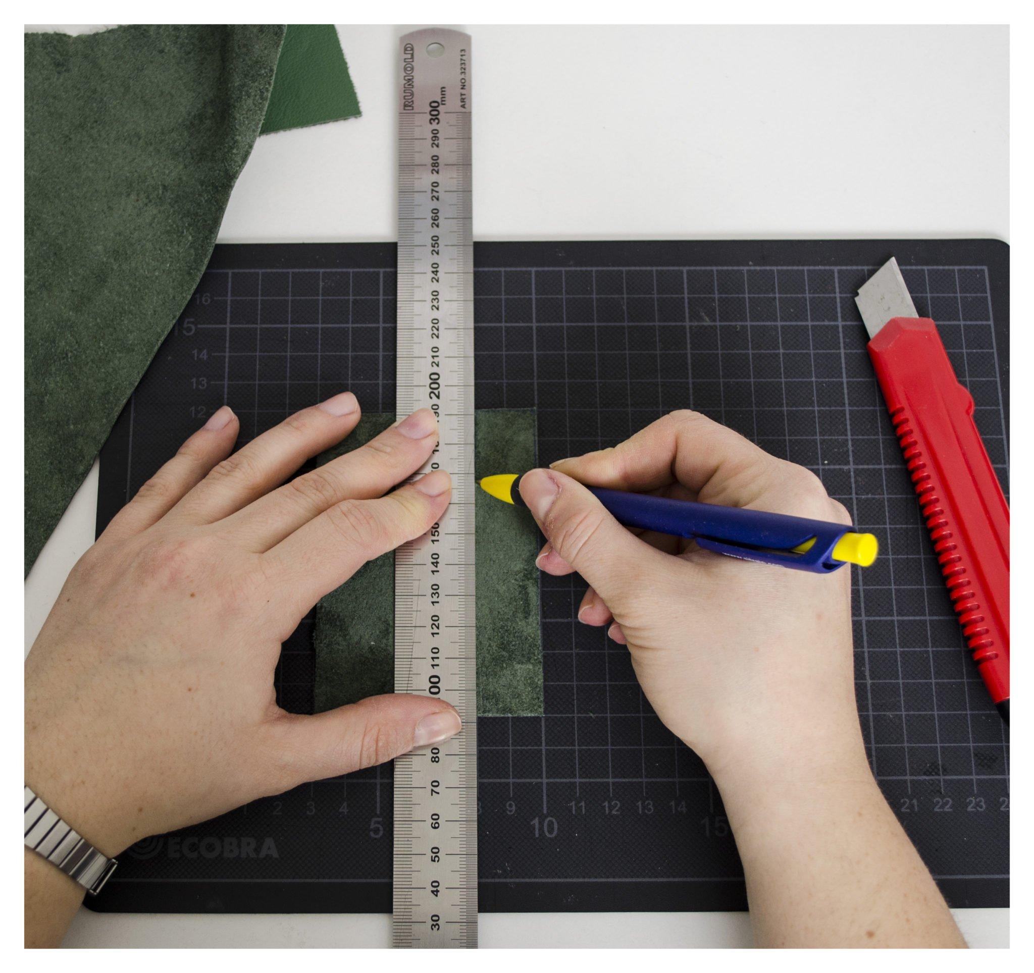 anzeichnen für Lederquasten DIY