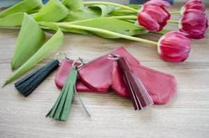 DIY : Leder - Quasten - Schlüsselanhänger
