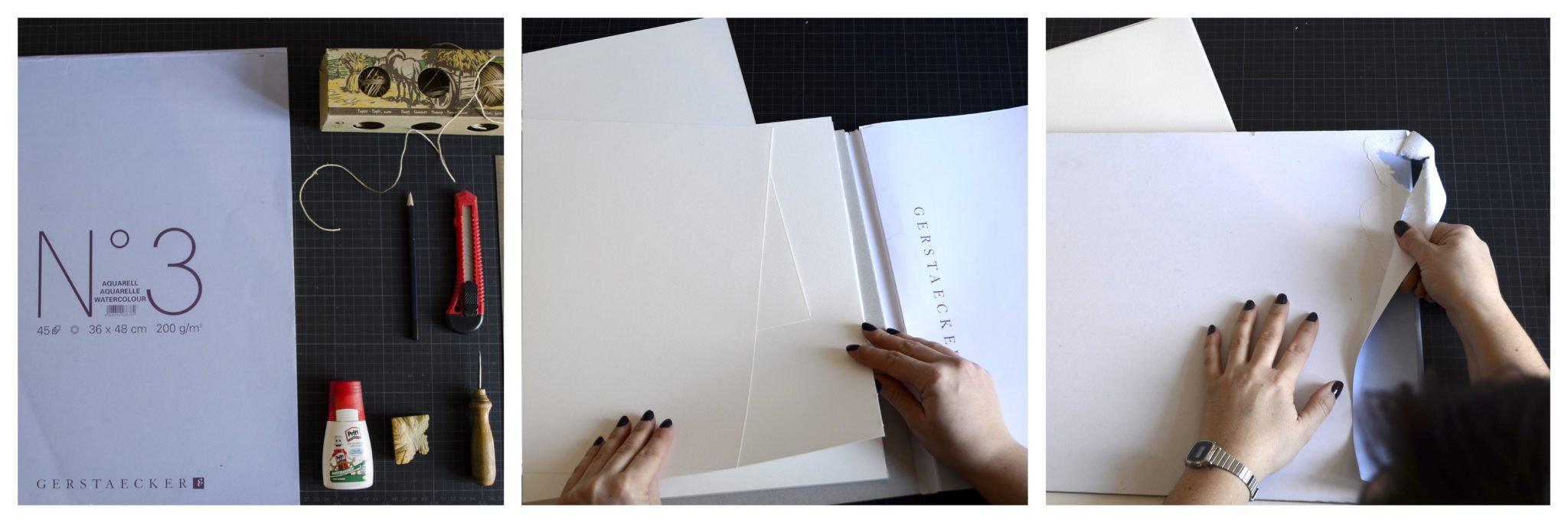 Was du für das Buchbinden eines Skizzenbuchsbenötigst