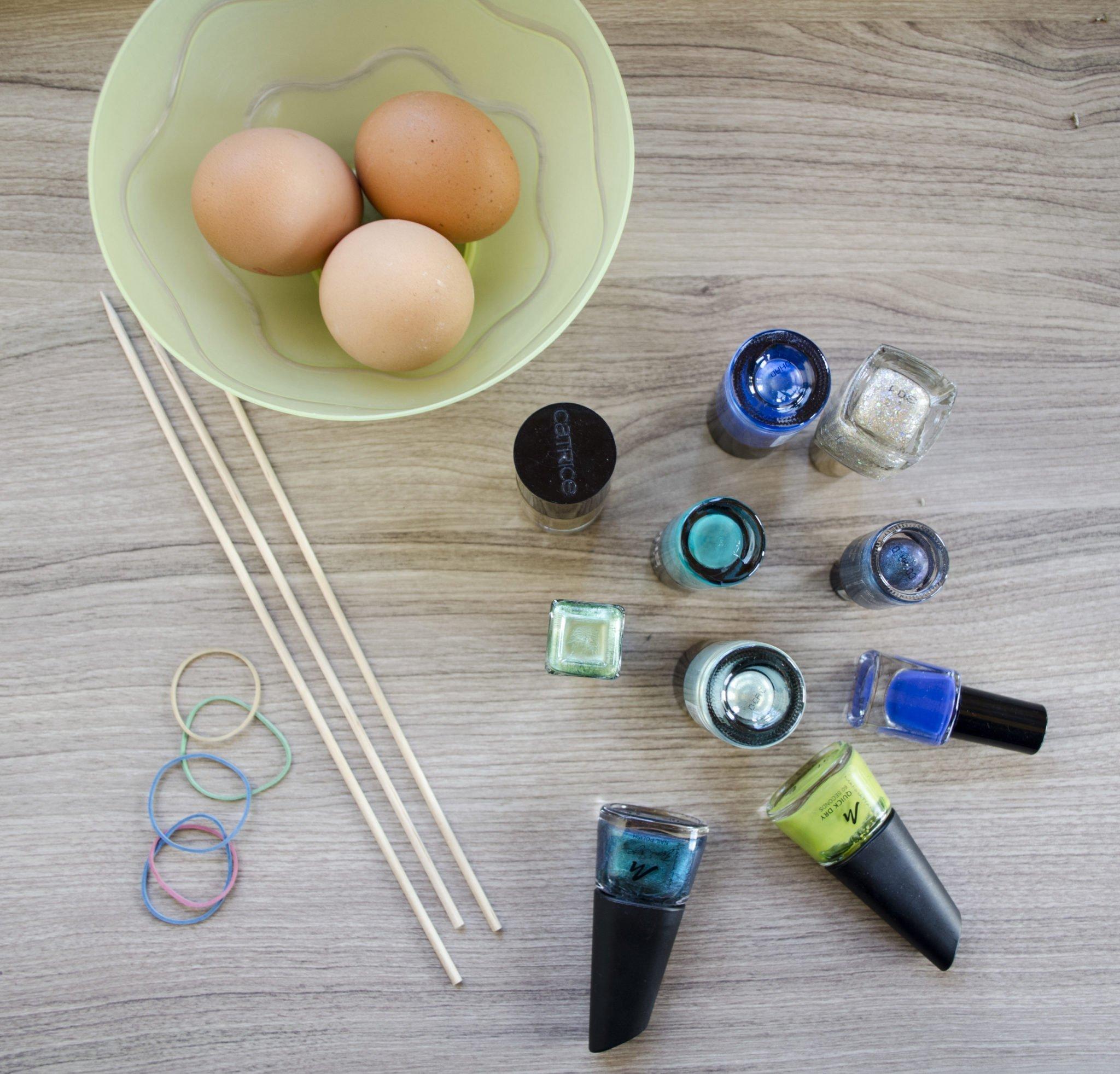 DIY Ostereier marmorieren Zutaten