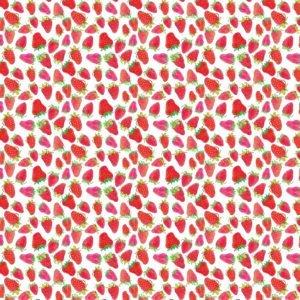 Ms.Hey! Textildesign Erdbeermuster ausgehend von Zeichnung und Aquarellmalerei