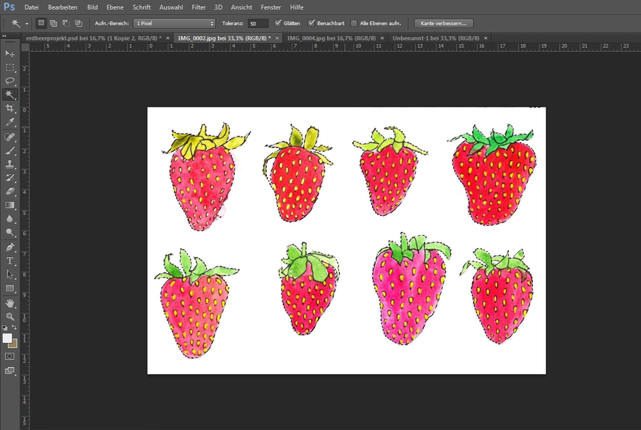 Schritt 1 Muster erstellen- Zeichnung vom Hintergrund eleminieren