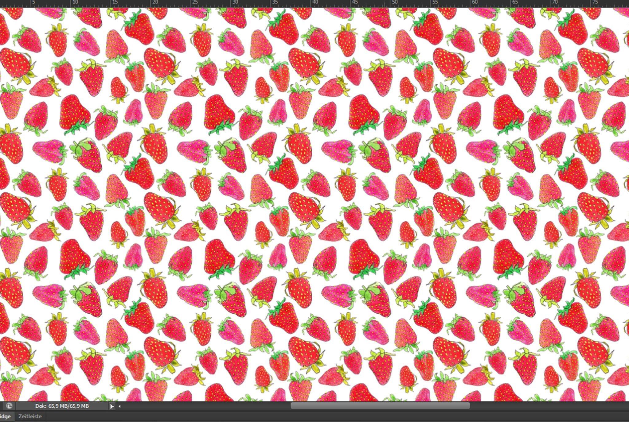 Schritt 8 Muster überprüfen - So sieht das fertige Erdbeer - Muster von Ms-Hey! aus