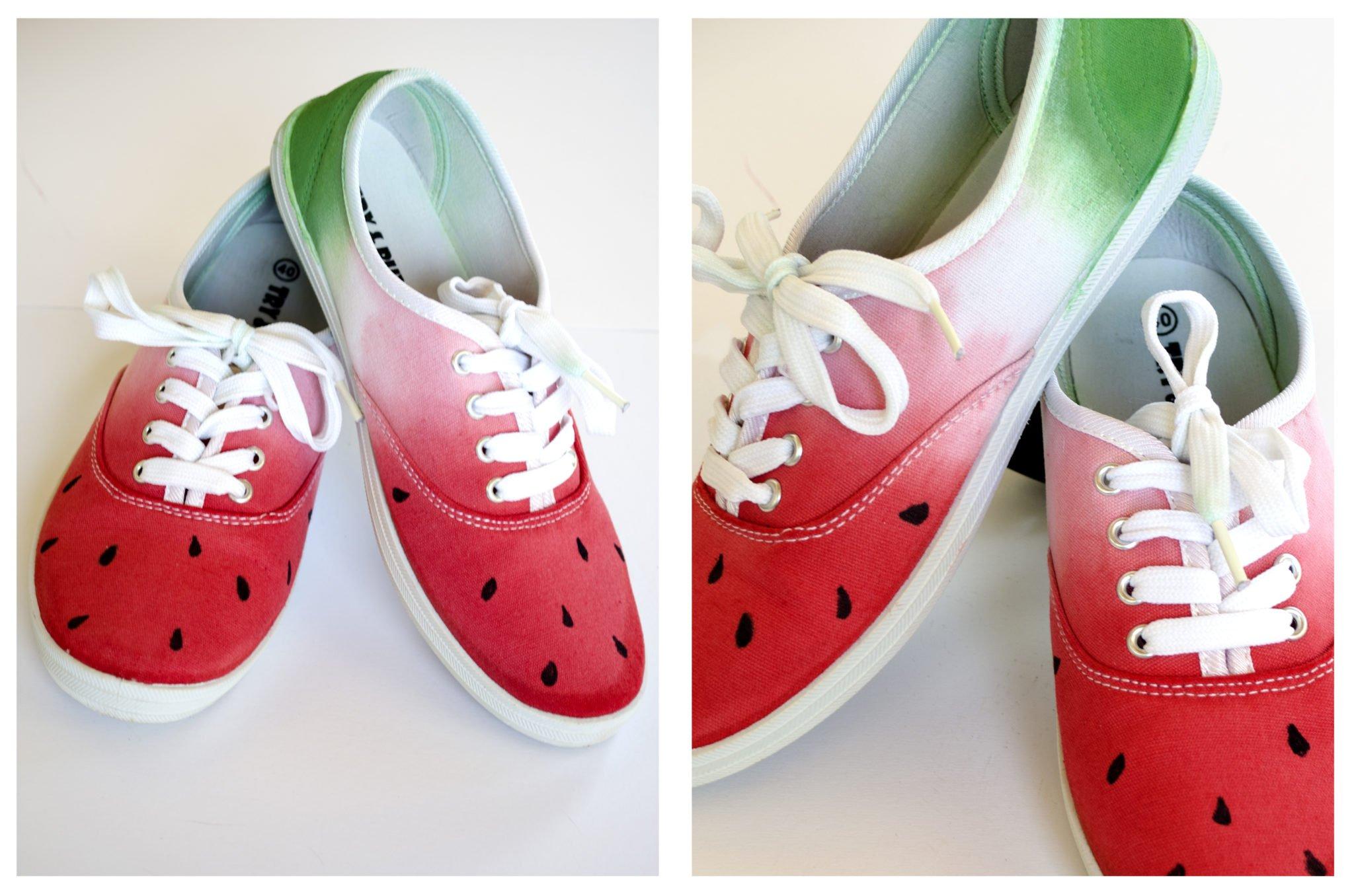 Dip- Dye Melonen-Schuhe