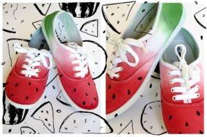 Dip- Dye Melonen-Schuhe von Ms.Hey! voll coole Sommerschuhe!