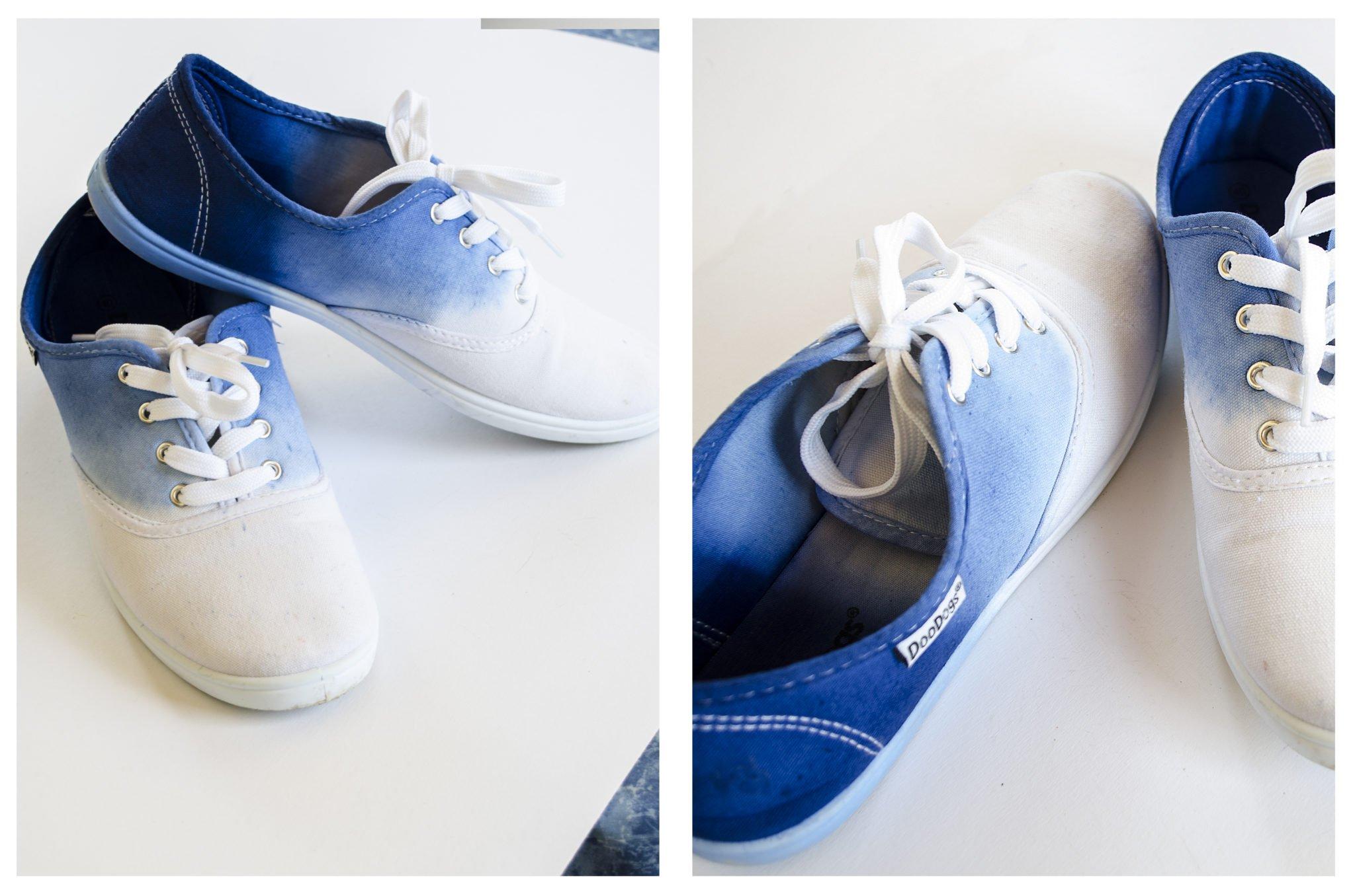 Dip- Dye -Schuhe in Blau
