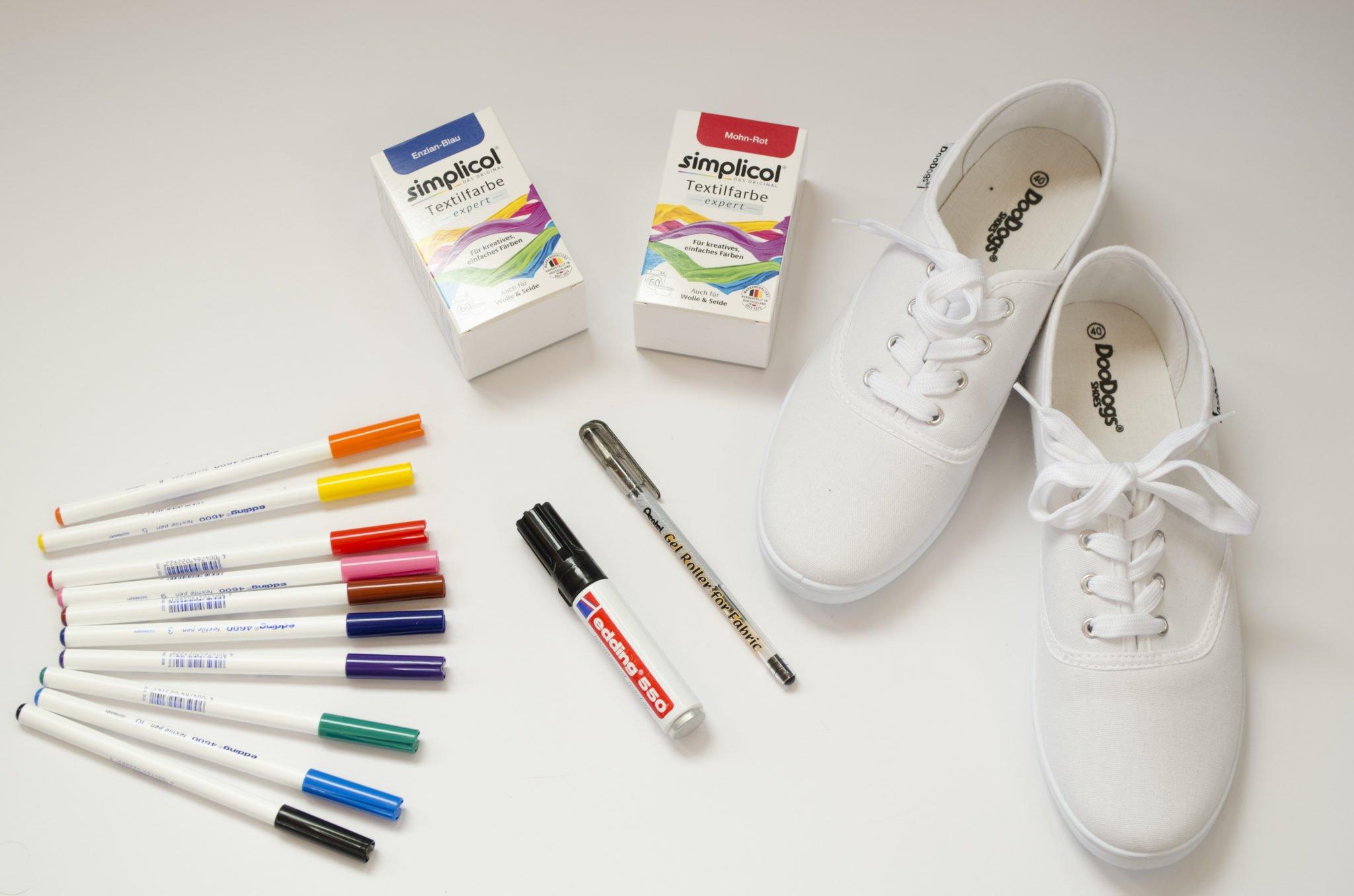 Material für Dip- Dye stoffschuhe
