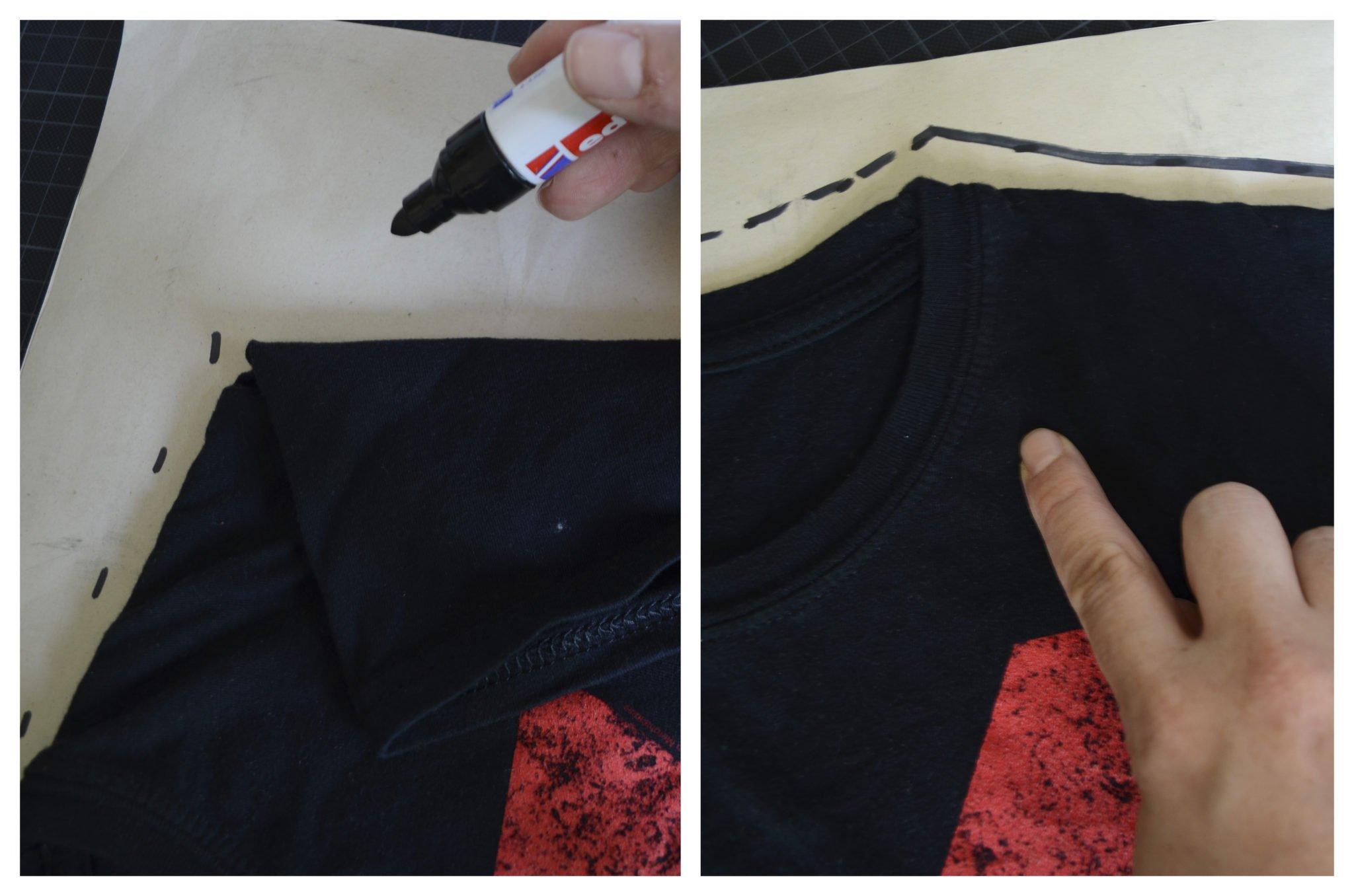 t-shirt selber machen- Schnitt aufzeichnen