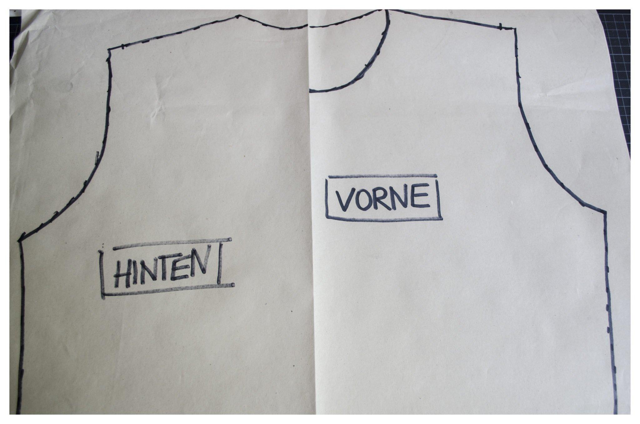 t-shirt selber machen Schnitt kopiert