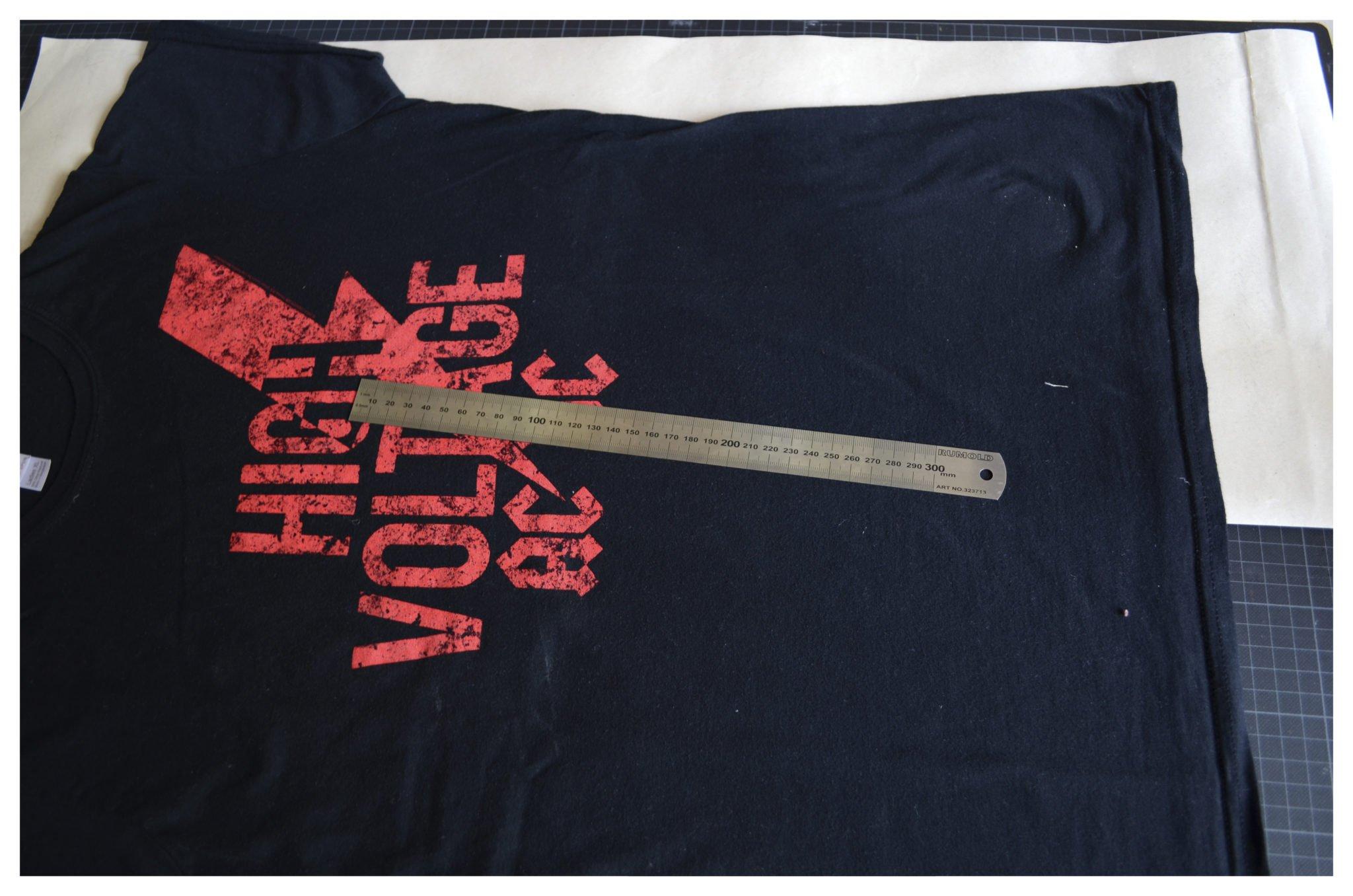t-shirt selber machen - Schnitt von Lieblingsshirt kopieren