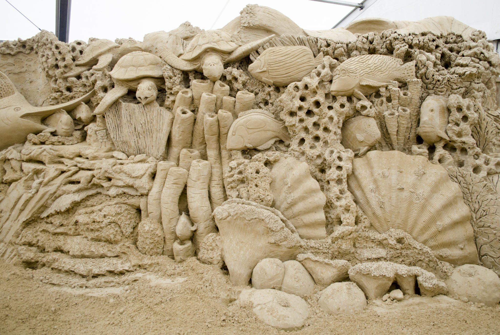 Das Great Barrier Reef Sandskulpturen
