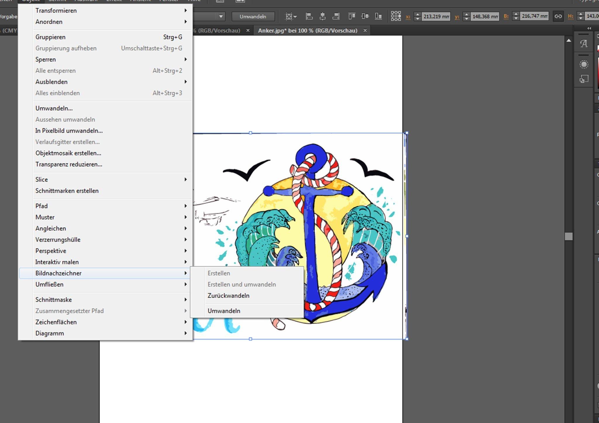Illustration im Illustrator nachzeichnen Kunstdruck