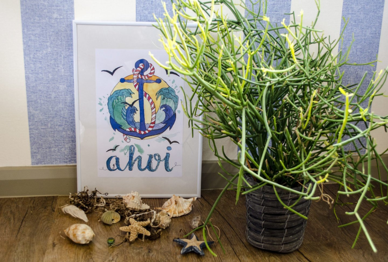 Maritimen Kunstdruck selber machen