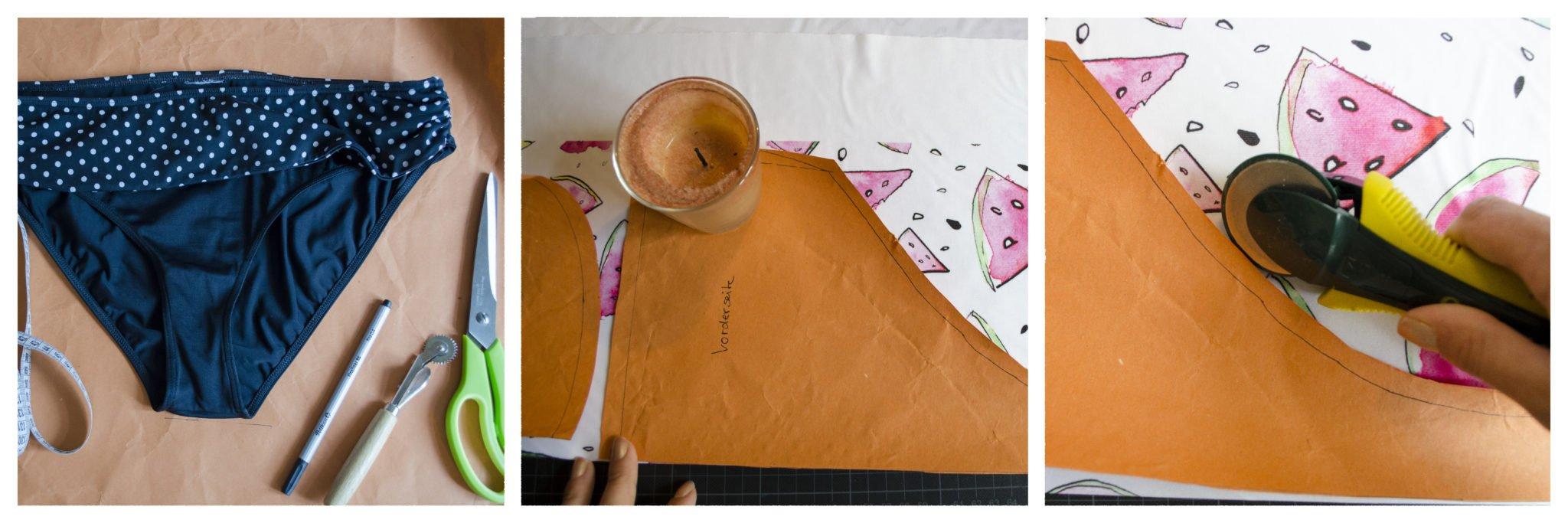 Schritt 1 Bikini Schnitt abnehmen und Stoff ausschneiden