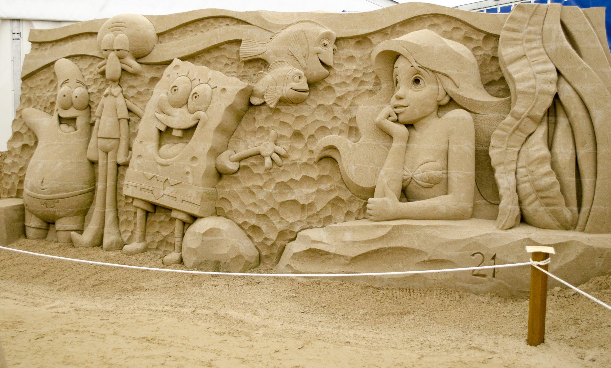 Sponge Bob - Nemo - Arielle Sandskulpturen
