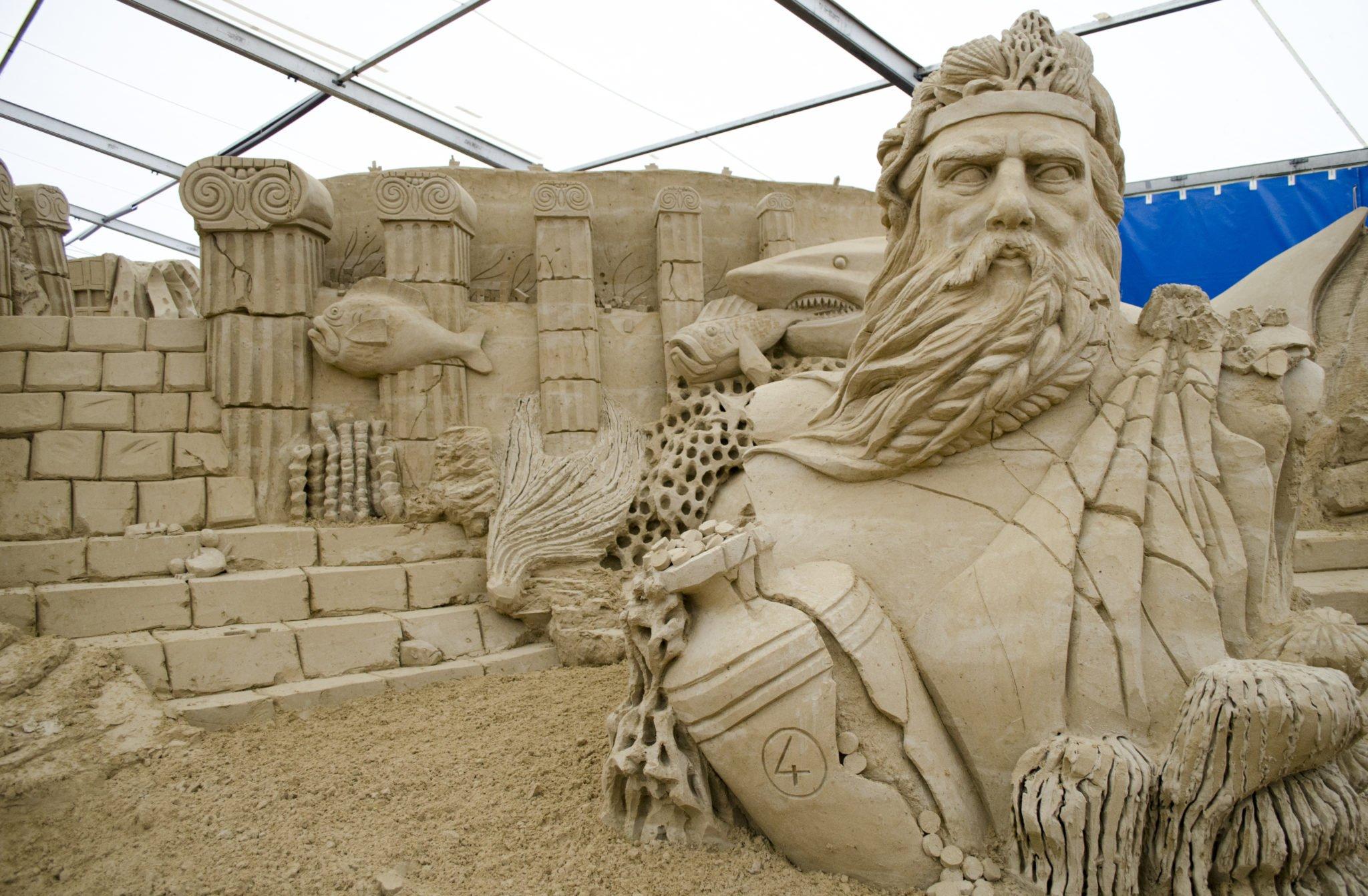 Vineta und Atlantis Sandskulpturen