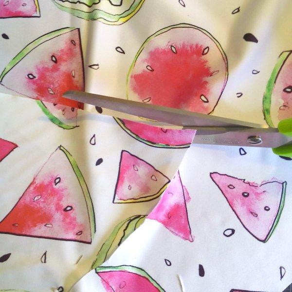 Happy Fruit- Melone Pink Lycra Ms.Hey!_textildesign_