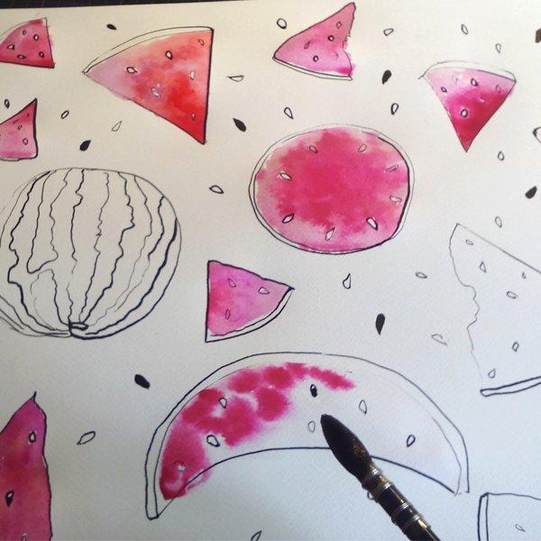 Methode Happy Fruit- Melone Ms.Hey!_textildesign_
