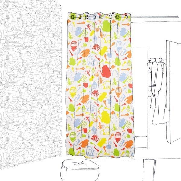 Petite Joie Flächenvorhang Multicolor und Tapete Schlüssel Projektskizze