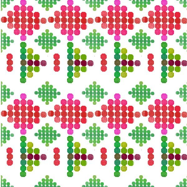 Strodisign Octagon Flower Green Pink Ms.Hey!