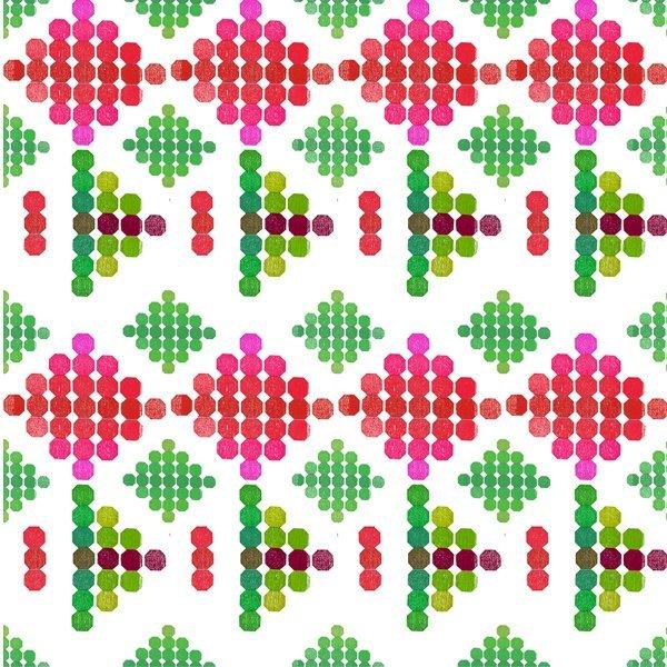 Strodisign Octagon Flower Green Pink Ms.Hey!