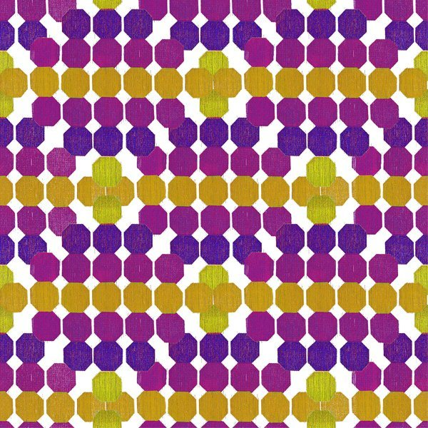 Strodisign Octagon Yellow Violet Ms.Hey!