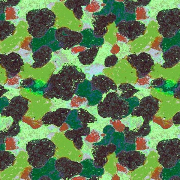 Strodisign Wax Crayon Blots Design Green Camouflage Ms.Hey!