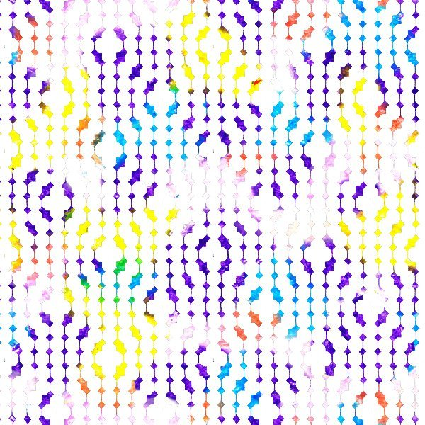 Strodisign Wax Crayon Blots White Geometric Design Ms.Hey!