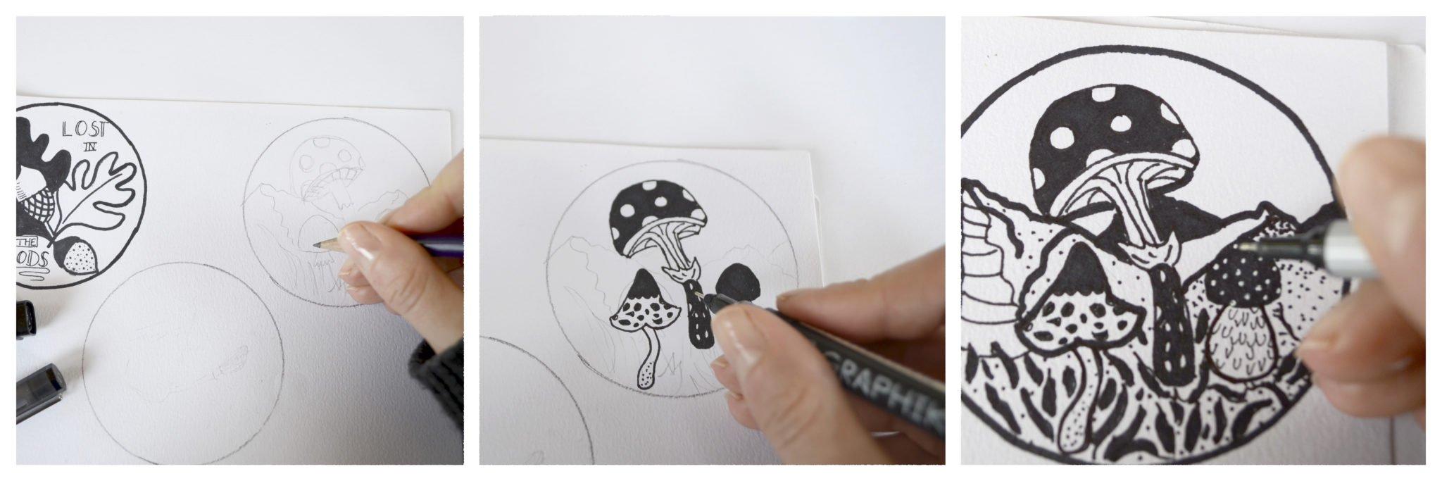 Aufkleber Zeichnen mit Ms.Hey!