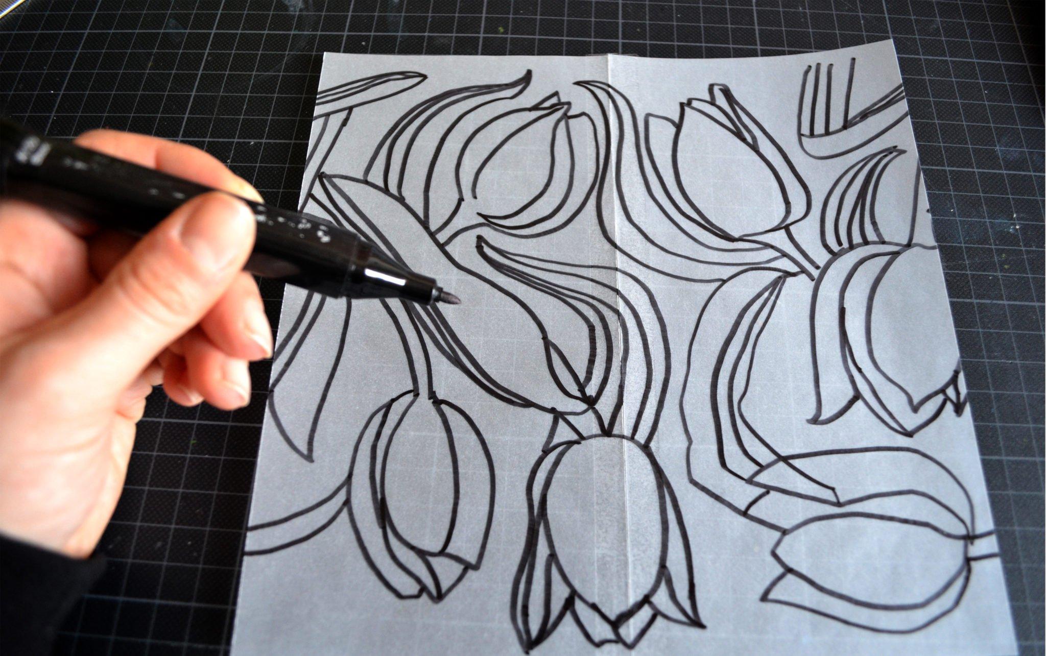 Rapport von Hand zeichnen Schritt 2 b zeichnen